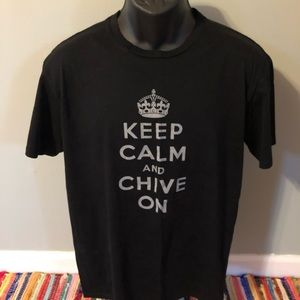 Keep Calm Chive On Shirt KCCO Black Large